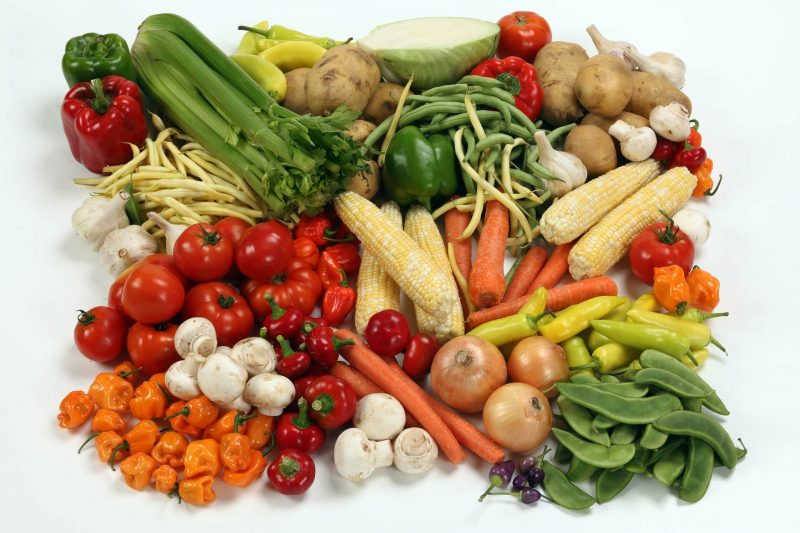 large assortment of vegetables for a vegan diet