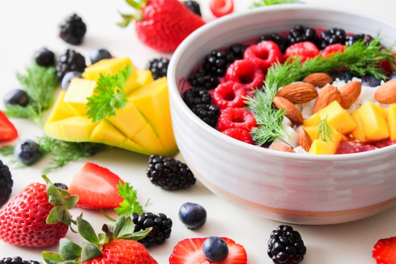 healthy fruit salad in a bowl