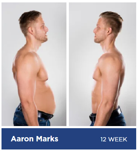 man losing weight before and after images